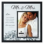 Malden® 8-Inch x 10-Inch  Mr. & Mrs.  with Corinthians Verse Frosted Glass Picture Frame