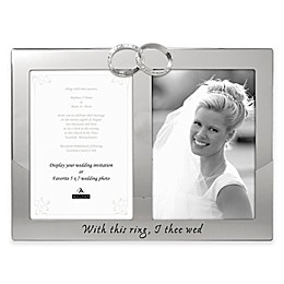 "Malden® 2-Photo ""With This Ring"" Picture Frame"