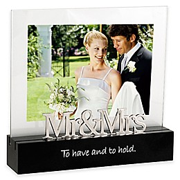 "Malden® 5-Inch x 7-Inch ""Mr. & Mrs."" Desktop Expressions Picture Frame"