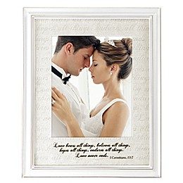 Malden® 8-Inch x 10-Inch Love Letter with Corinthians Verse Photo Frame