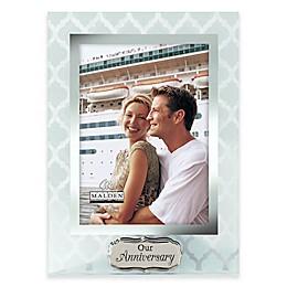 "Malden® 5-Inch x 7-Inch ""Our Anniversary"" Glass Photo Frame"