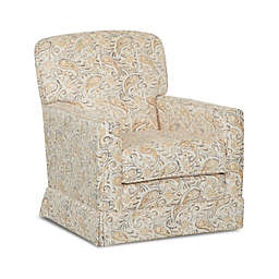 Klaussner® Sussex Glider and Foss Ottoman in Joule Daisy