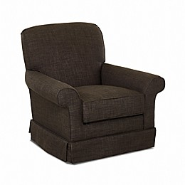 Klaussner® Trigg Swivel Glider in Charcoal