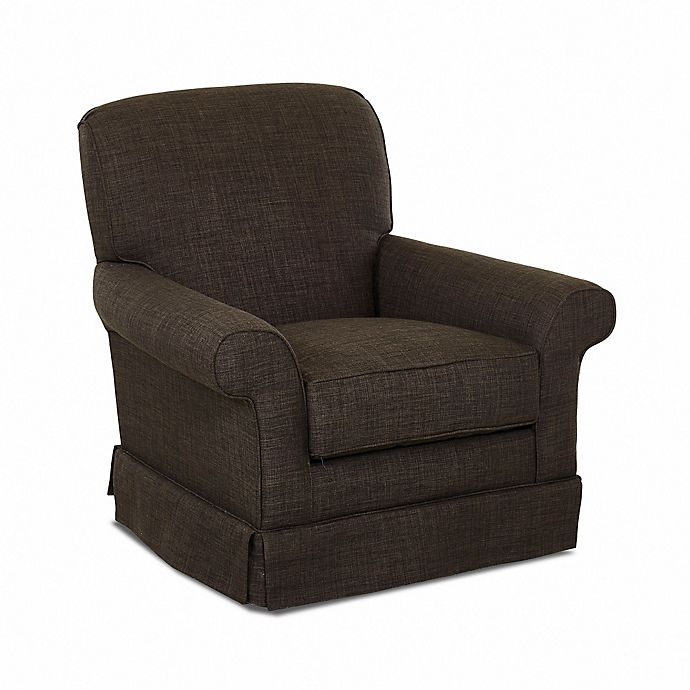 Alternate image 1 for Klaussner® Trigg Swivel Glider in Charcoal