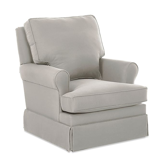 Alternate image 1 for Klaussner® Guthrie Swivel Glider and Foss Gliding Ottoman in Belsire Grey