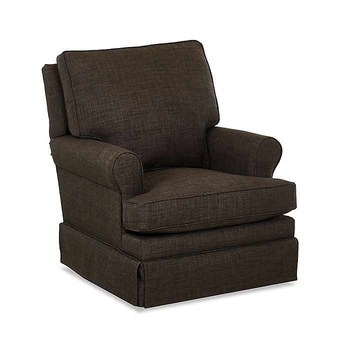 Alternate image 1 for Klaussner® Guthrie Swivel Glider in Charcoal