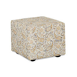 Klaussner® Cutty Stationary Ottoman in Yellow Joule Daisy