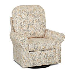 Klaussner® Glider and Ottoman in Joule Daisy