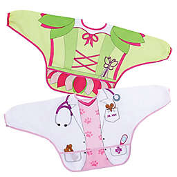 Dreambaby® 2-Pack Fairy and Vet Food and Fun Character Bibs/Smocks with Sleeves