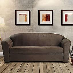 FurnitureSkins™ Austin 2-Piece Distressed Leather Sofa Slipcover in Tobacco