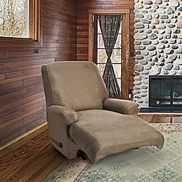 FurnitureSkins™ Austin 4-Piece Distressed Leather Recliner Slipcover