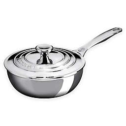 Le Creuset 2 qt. Stainless Steel Saucier Pan with Lid