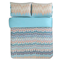 Kensie Ginny Duvet Cover Set in Teal
