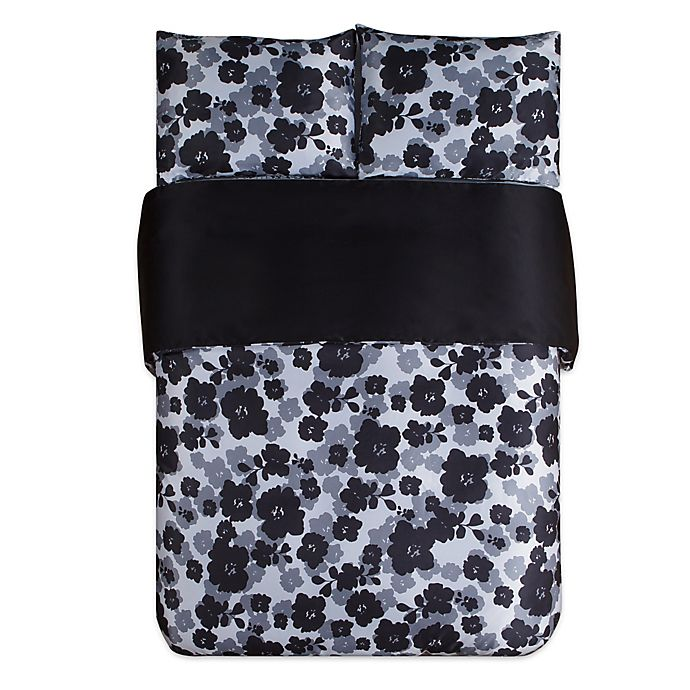 Alternate image 1 for Kensie Lyla Full/Queen Duvet Cover Set in Black/White