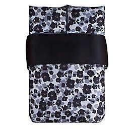 Kensie Lyla Duvet Cover Set in Black/White