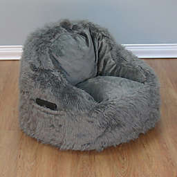 Structured Tablet Fur Pocket Bean Bag Chair