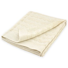 Just Born® Sparkle Chevron Sweater Knit Blanket in Ivory