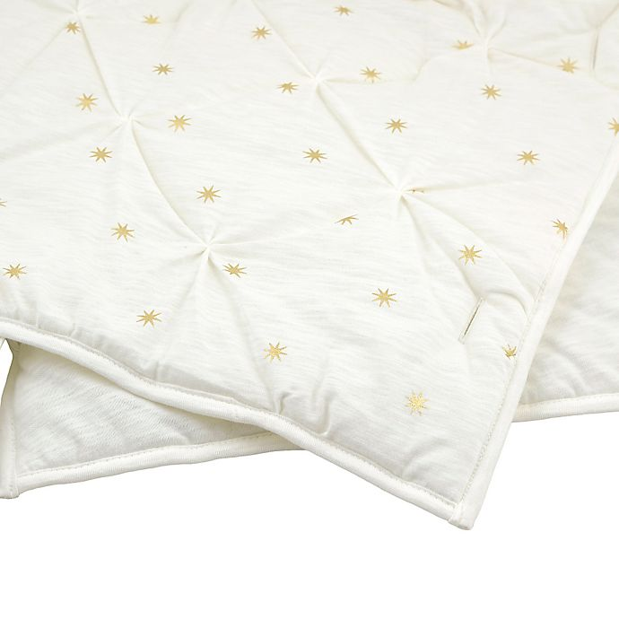 Alternate image 1 for Just Born® Sparkle Quilt in Ivory