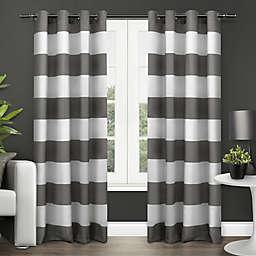 Exclusive Home Surfside 96-Inch Grommet Top Window Curtain Panel Pair in Black Pearl