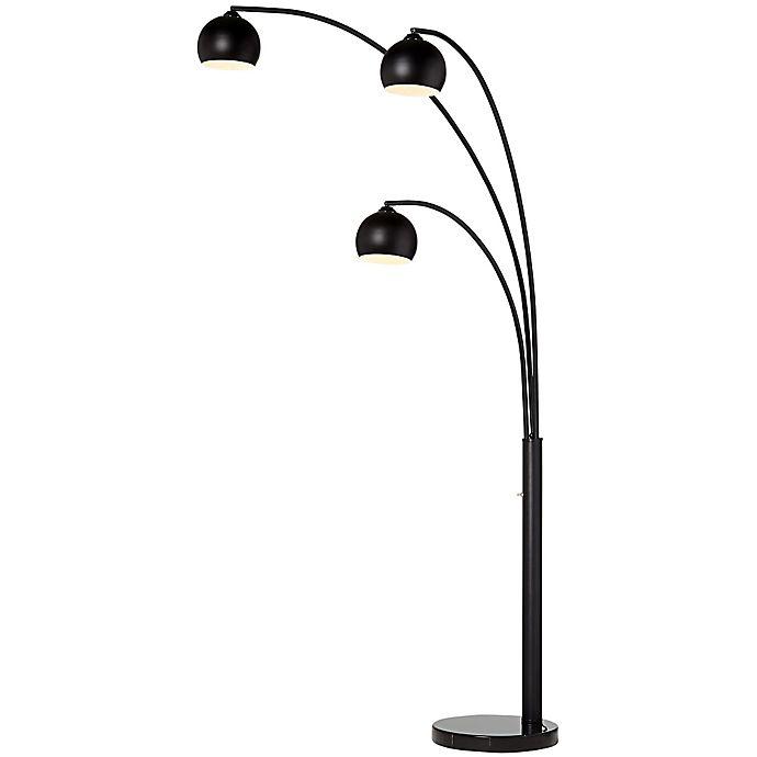 Crosstown 3 Light Arc Floor Lamp In Oil