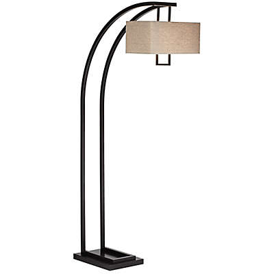 Pacific Coast Lighting® Aiden Place 2-Light Arc Floor Lamp in Oil Rubbed Bronze