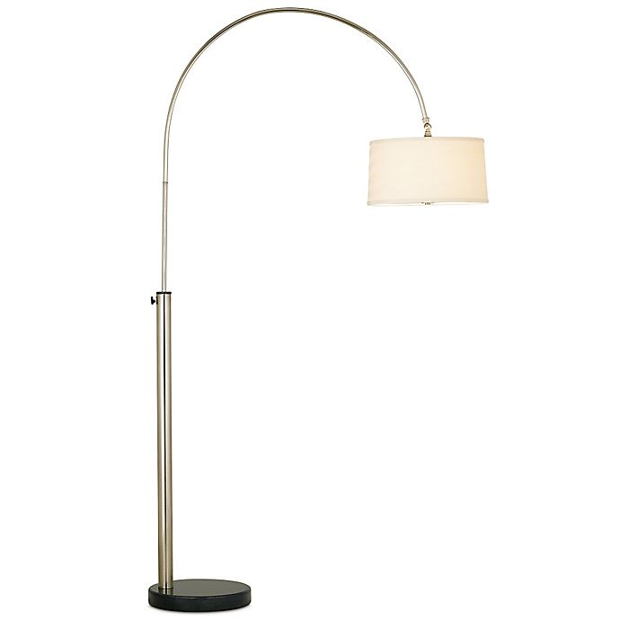 Alternate image 1 for Pacific Coast Lighting® Bowden Adjustable Height Floor Lamp in Brushed Nickel