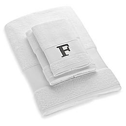 Avanti Block Letter Monogram Turkish Cotton Cuff Towel Collection