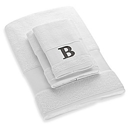 Avanti Block Letter Monogram Turkish Cotton Cuff Towel Collection