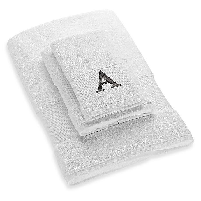 Alternate image 1 for Avanti Silver Block Letter Monogram Letter \