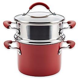 Rachael Ray™ Cucina Hard Porcelain Enamel Nonstick 3 qt. Multipot Steamer Set