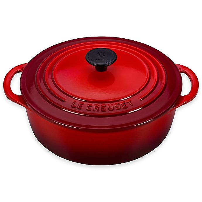 Alternate image 1 for Le Creuset® 2.75-Quart Shallow Dutch Oven in Cerise