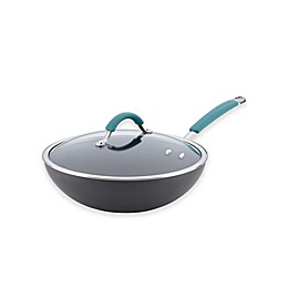 Rachael Ray™ Cucina Hard-Anodized 11-Inch Covered Stir Fry Pan in Agave Blue