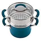 Rachael Ray™ Classic Brights 3 qt. Nonstick Covered Steamer Set in Marine Blue