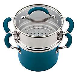 Rachael Ray™ Porcelain Nonstick Steamer Set in Marine Blue