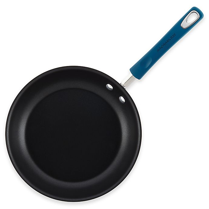 Alternate image 1 for Rachael Ray™ Porcelain Nonstick 12.5-Inch Skillet in Marine Blue