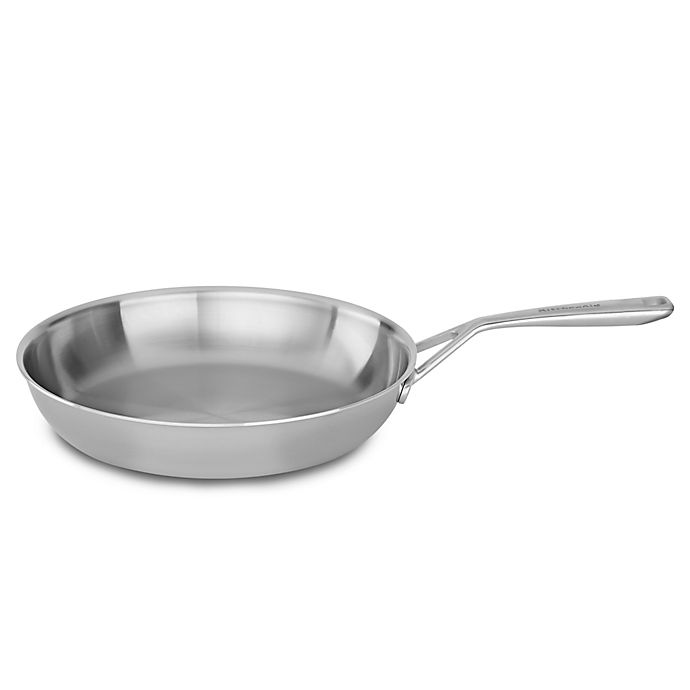 Alternate image 1 for Kitchenaid® 12-Inch Tri-Ply Stainless Steel Skillet