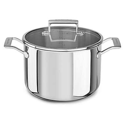 Kitchenaid® 8 qt. Tri-Ply Stainless Steel Stock Pot