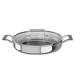 Kitchenaid® 3.5 qt. Tri-Ply Stainless Steel Braiser