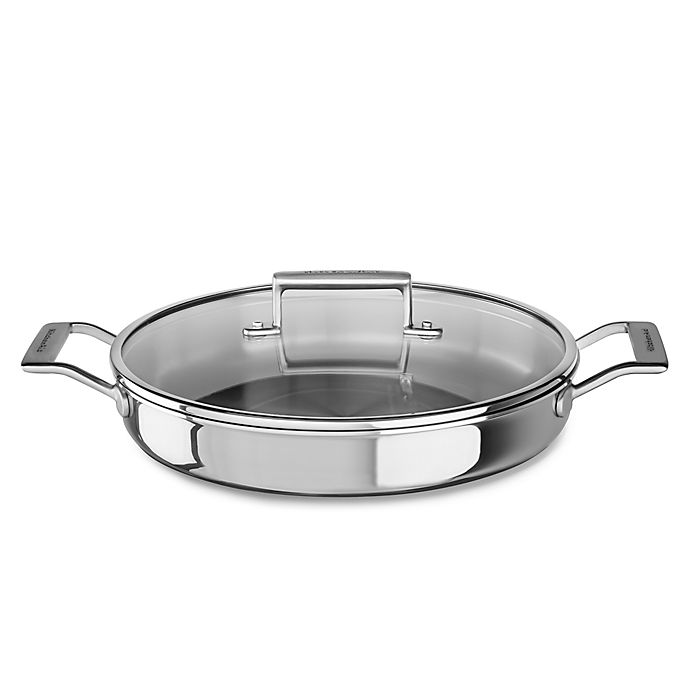Alternate image 1 for Kitchenaid® 3.5 qt. Tri-Ply Stainless Steel Braiser