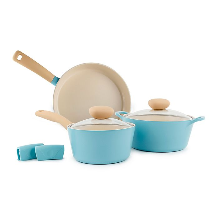 Alternate image 1 for Neoflam Retro Nonstick Ceramic 5-Piece Cookware Set in Mint