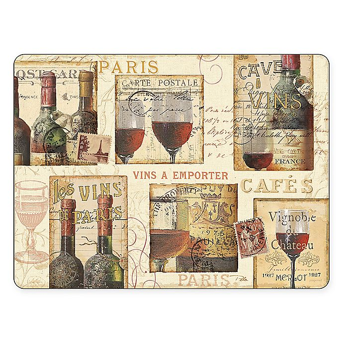 Alternate image 1 for Pimpernel The French Cellar Placemats (Set of 4)