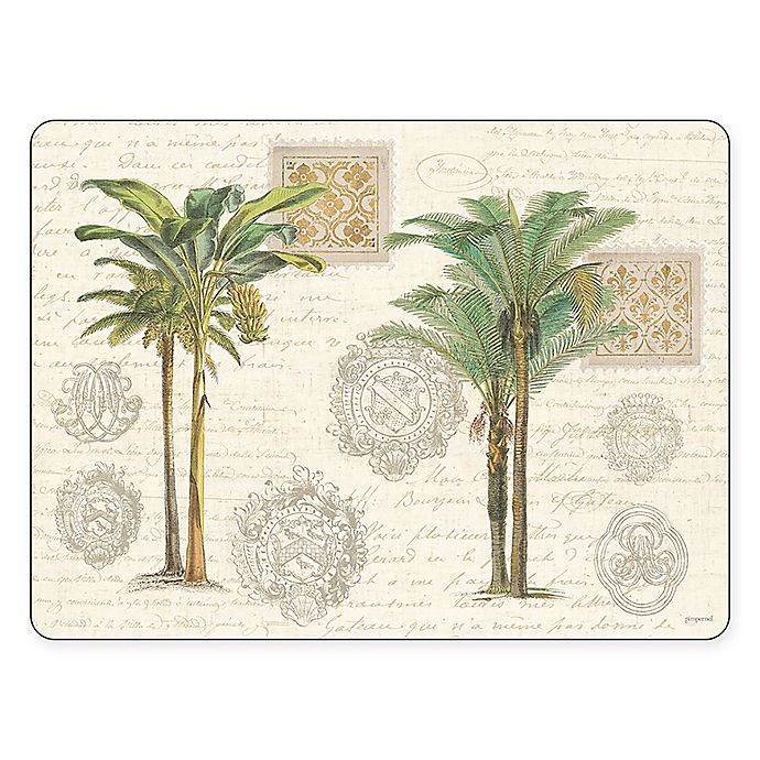 Alternate image 1 for Pimpernel Vintage Palm Study Placemats (Set of 4)