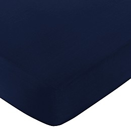 Sweet Jojo Designs Fitted Crib Sheet in Navy