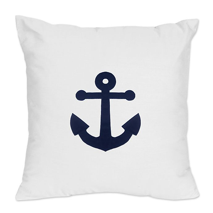 Alternate image 1 for Sweet Jojo Designs Anchors Away Throw Pillow