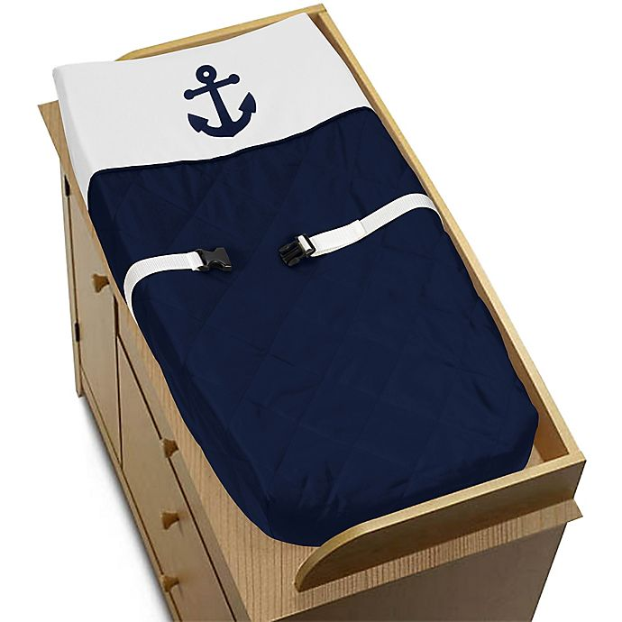 Alternate image 1 for Sweet Jojo Designs Anchors Away Changing Pad Cover