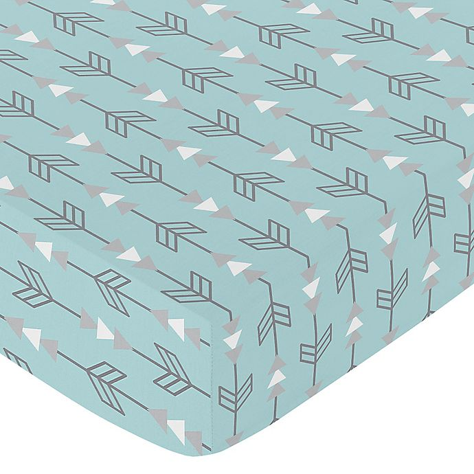 Alternate image 1 for Sweet Jojo Designs Earth and Sky Arrow Fitted Crib Sheet