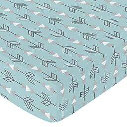 Sweet Jojo Designs Earth and Sky Arrow Fitted Crib Sheet