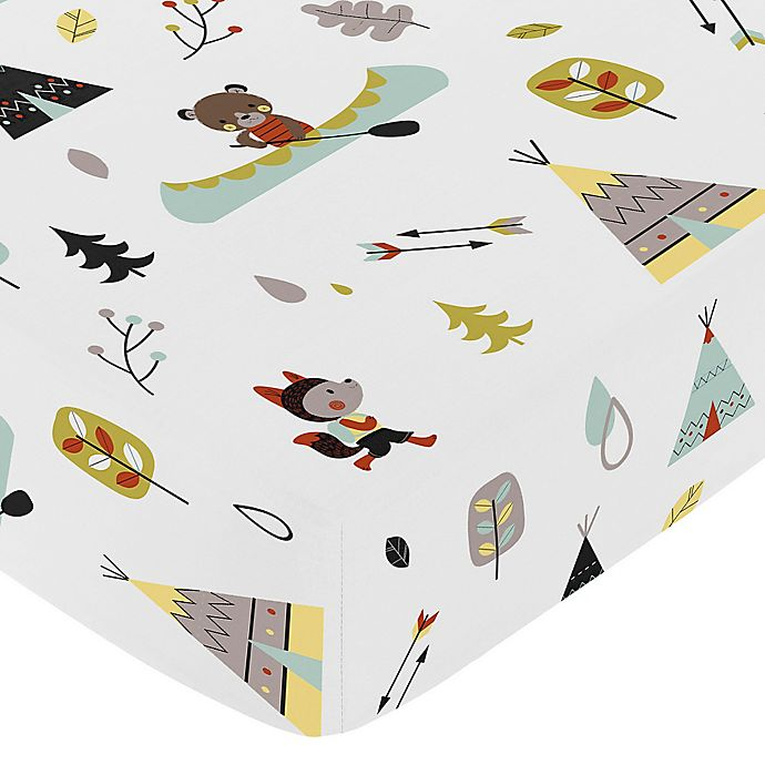Alternate image 1 for Sweet Jojo Designs Outdoor Adventure Fitted Crib Sheet