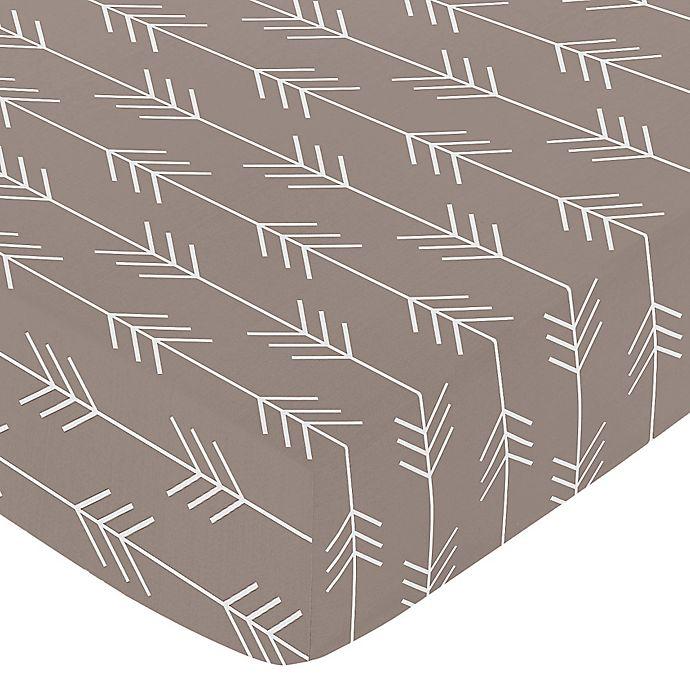 Alternate image 1 for Sweet Jojo Designs® Outdoor Adventure Arrow Fitted Crib Sheet