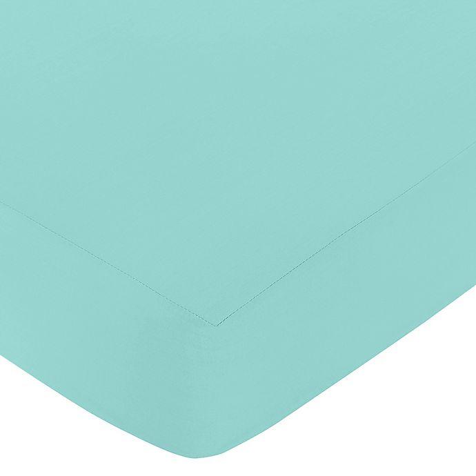 Alternate image 1 for Sweet Jojo Designs Skylar Fitted Crib Sheet in Turquoise